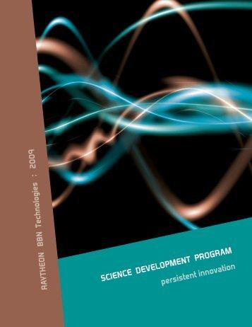 SCIENCE DEVELOPMENT PROGRAM persistent innovation