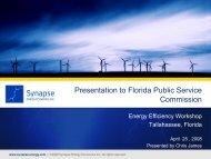 Chris James FL Energy efficiency 04 25... - Public Service Commission