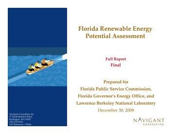 Florida Renewable Energy Potential Assessment - Public Service ...