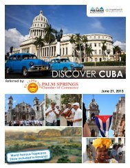 DISCOVER CUBA - Palm Springs Chamber of Commerce