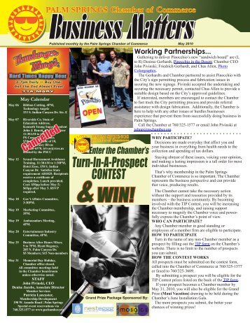 May - Palm Springs Chamber of Commerce