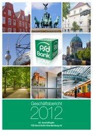 Geschäftsbericht 2012 - PSD Bank Berlin-Brandenburg eG