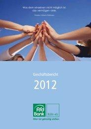 Geschäftsbericht - PSD Bank Köln eG