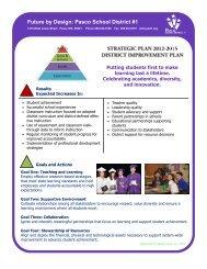 Strategic Plan 2012-2015 - Pasco School District