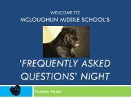McLoughlin Middle School's - Pasco School District