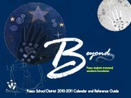 Pasco School District 2010-2011 Calendar and Reference Guide