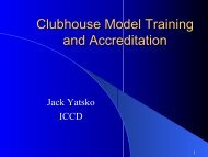 Clubhouse Model Training and Accreditation - PSDAS 專業服務發展 ...