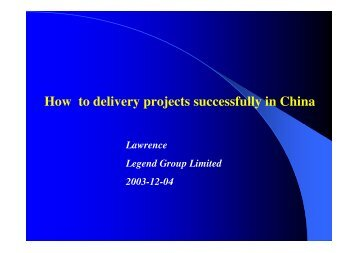 How to Deliver Projects Successfully in China