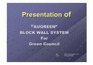 AUGREEN Block Wall System