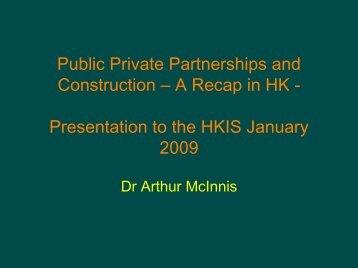 PPPs and Construction: A Recap in Hong Kong