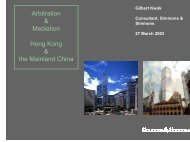 B. Arbitration in Hong Kong (Cont'd)