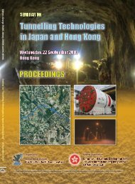 "Seminar on ""Tunnelling Technologies in Japan and Hong Kong"""