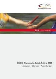 XXIXX. Olympische Spiele Peking 2008 - Der Deutsche Olympische ...
