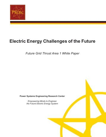 Electric Energy Challenges of the Future - Power Systems ...