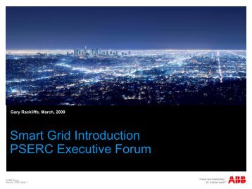 Smart Grid Introduction PSERC Executive Forum - Power Systems ...