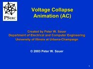 AC Voltage Collapse - Power Systems Engineering Research Center