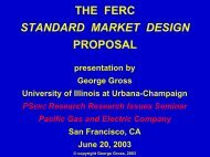 market design - Power Systems Engineering Research Center