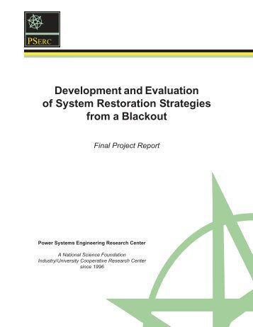 Development and Evaluation of System Restoration Strategies from ...