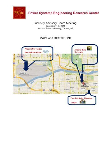 Maps and Directions - Power Systems Engineering Research Center