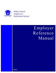 Employer Reference Manual - PSERs