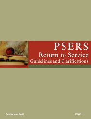 Return to Service Guidelines and Clarifications - PSERs