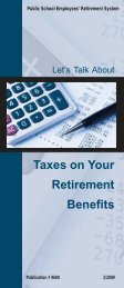 Taxes on Your Retirement Benefits - PSERs
