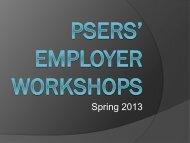 Presentation - PSERs