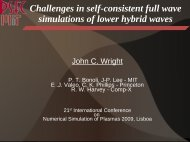 Challenges in self-consistent full wave simulations of lower ... - MIT