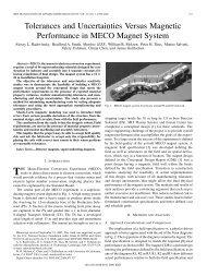 Tolerances and Uncertainties Versus Magnetic ... - IEEE Xplore