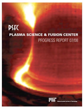 From the Director - Plasma Science and Fusion Center - MIT