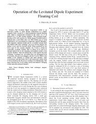 Operation of the Levitated Dipole Experiment Floating Coil - Plasma ...