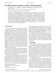 The effect of divertor baffling on Alcator C-Mod discharges* - Plasma ...