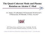 The Quasi-Coherent Mode and Plasma Rotation on Alcator C-Mod