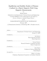 Equilibrium and Stability Studies of Plasmas Confined in a Dipole ...
