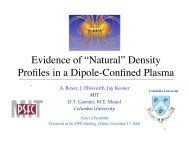 """Evidence of """"Natural"""" Density Profiles in a Dipole-Confined ... - MIT"""