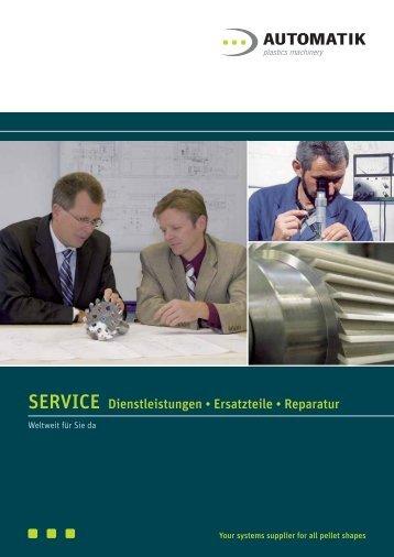 SERVICE Dienstleistungen • Ersatzteile • Reparatur