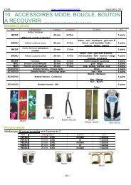 Téléchargez notre catalogue Accessoires Mode et Boucles