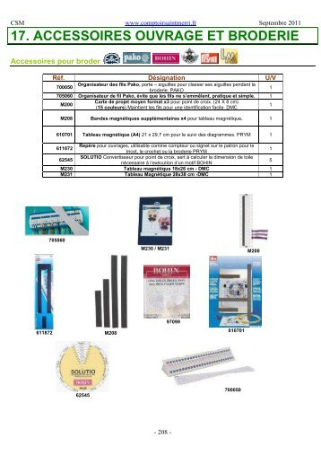 Téléchargez notre catalogue Accessoires Broderie - Comptoir Saint ...