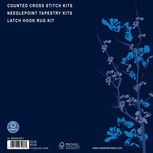 Counted Cross Sch Kits Needlepoint Coatscrafts Com