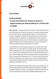 Ad hoc Meldung Sonderausschüttung - DocCheck AG