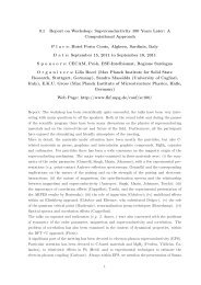 0.1 Report on Workshop: Superconductivity 100 Years Later ... - Psi-k