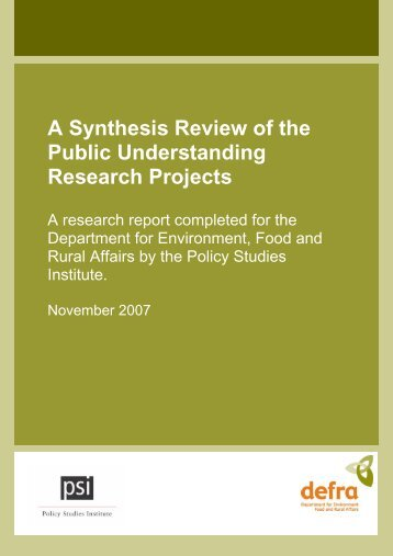 Read the report - Policy Studies Institute