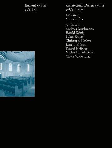 Jahrbuch 2006 / Yearbook 2006 - D-ARCH - ETH Zürich