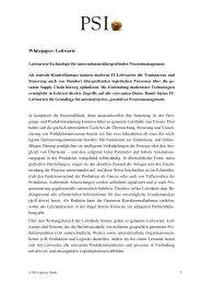 Whitepaper: Leitwarte - PSI Logistics GmbH