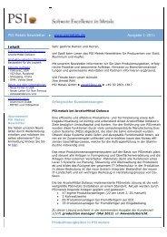 Newsletter 01/11 - PSI Metals GmbH