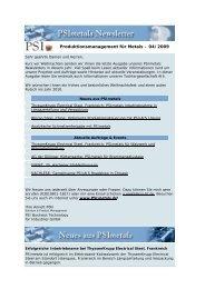 Newsletter 04/09 - PSI Metals GmbH
