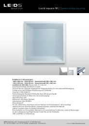 Lucid square M | Deckeneinbauleuchte - PSL AG