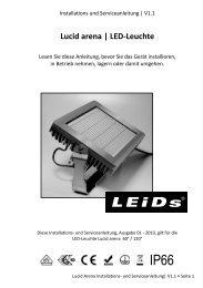 Lucid arena | LED-Leuchte - LEIDS