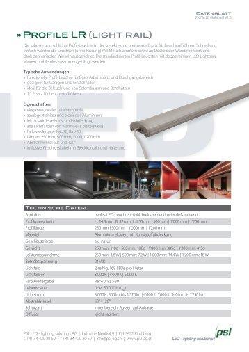 Produktblatt Profile LR (light rail) - PSL AG