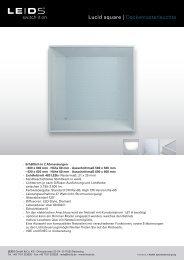 Produktblatt Lucid square - PSL AG